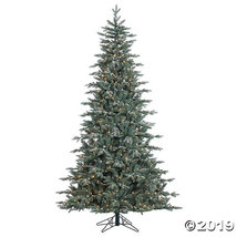 Vickerman 7.5' Crystal Frost Balsam Fir Christmas Tree with Clear Lights - $627.75