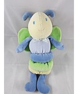 Carters Starters Insect Butterfly Fly Musical Crib Plush Blue Green Stuf... - $8.96