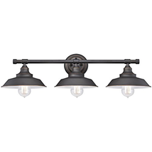 Westinghouse 6343400 Iron Hill Three-Light Indoor Wall Fixture, Oil Rubbed with - $79.25