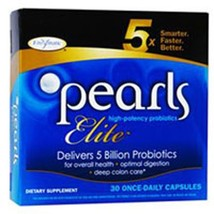 Pearls Elite High Potency Probiotics, 30 Capsules, From Enzymatic Therapy  pack