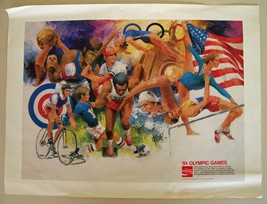 COCA COLA '84 Olympic Games Poster by WAYLAND MOORE Sports Artist COKE 2... - $14.50