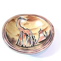 """4"""" Small Dish Bowl Painted Giraffe Kenyan Kisii Stone Jewelry Coins Cand... - $20.48"""