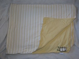 Vintage Gymboree 2001 Who Whoo's Who's Cute Yellow Green Owl Stripe Blanket - $98.98