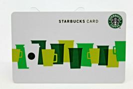 Starbucks Coffee 2010 Gift Card Multi Color Green Cups Fall White Zero Balance - $11.27
