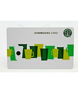 Starbucks Coffee 2010 Gift Card Multi Color Green Cups Fall White Zero B... - $11.27