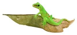 Top Collection Miniature Fairy Garden and Terrarium Day Gecko on Leaf St... - $24.18