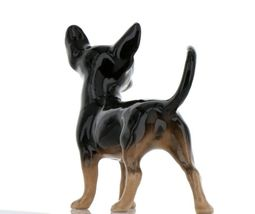 Hagen Renaker Pedigree Dog Chihuahua Large Black and Tan Ceramic Figurine image 5