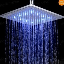 10 inch Square Temperature Sensor Changing //7 Color LED Rainfall Shower... - $108.25