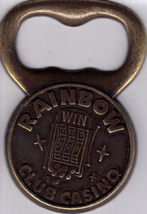 RAINBOW CLUB CASINO Brass Bottle Opener - $9.95