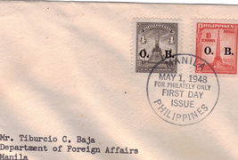 May 1, 1948 For Philately Only Manila, Philippines First Day Cover - $3.95