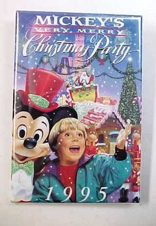 Primary image for 1995 Disneyland Mickey's Very Merry Christmas Party Pin Back Pinback Button