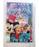 1995 Disneyland Mickey's Very Merry Christmas Party Pin Back Pinback Button - $7.99