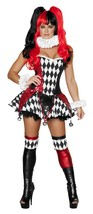Roma Harlequin Harley Quinn Villain Halloween Costume W/WO EXTRAS S M L ... - $105.00+