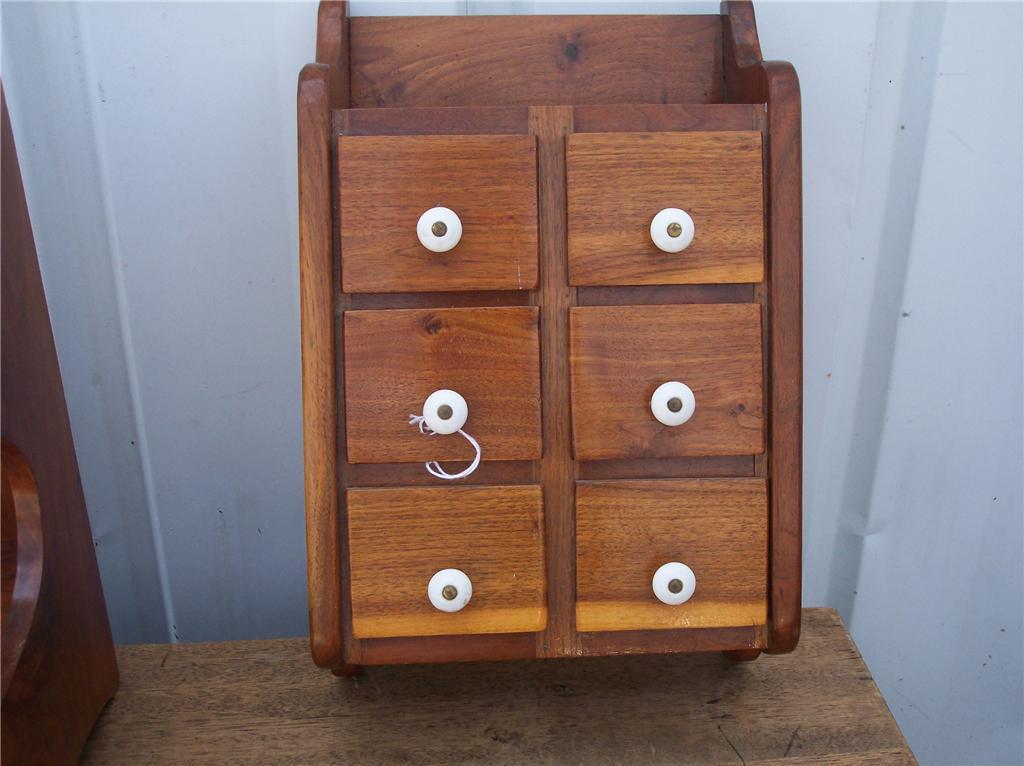 6 Drawer Solid Cherry Shelf