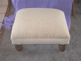 Beige Print Chenille Footstool/Ottoman - $161.78