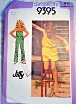Simplicity Sewing Pattern 9395 Jumpsuit Size 4 Jiffy Easy 1980 Summer Girl - $7.91
