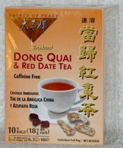 Dong Quai and Red Date Instant Tea 10 Bags - $9.55