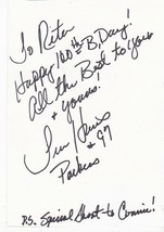 TIM HARRIS AUTOGRAPHED & WRITTEN BIRTHDAY CARD GREEN BAY PACKERS  - £4.93 GBP