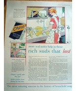 Chipso Quick Suds Rich Suds That Lasts Magazine Advertising Print Ad Art... - $6.99
