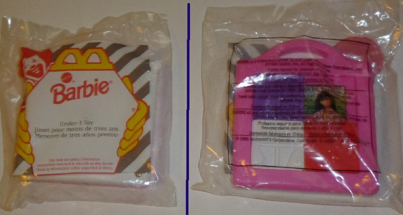 1995 McDonald BARBIE slide puzzle under 3 Toy MIP
