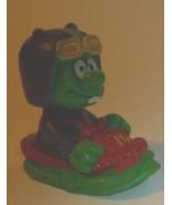 "ASTROSNIKS green alien PVC Figure in ship 2"", 1984  BULLY McDonalds - $39.99"