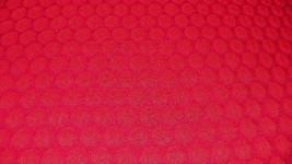 Bright Red Circle Print Jacquard Upholstery Fabric 1 Yd R610 - $36.38