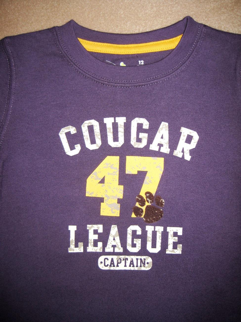 BOYS 12 MONTHS - Jumping Beans - Cougar League #47 Captain KNIT SHIRT