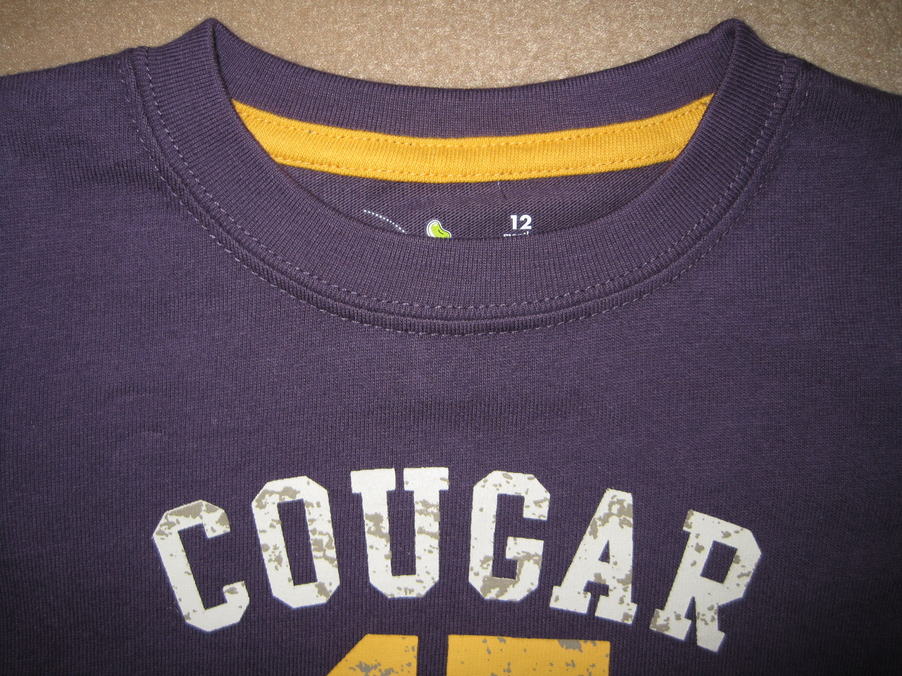 BOYS 12 MONTHS - Jumping Beans - Cougar League #47 Captain KNIT SHIRT