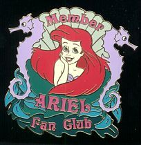 Disney Auctions (P.I.N.S.) - Ariel Fan Club Pin/Pins