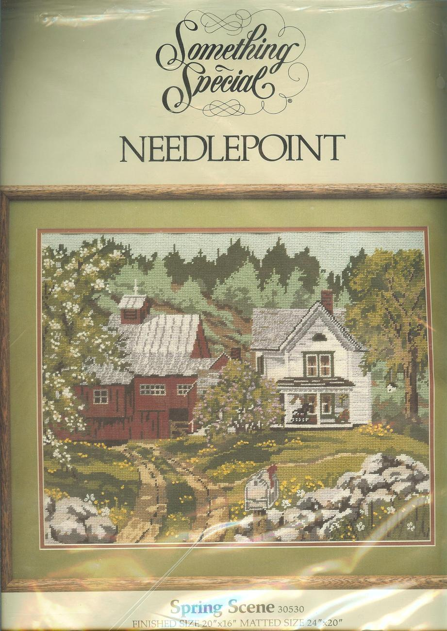 """Something Special """"Spring Scene"""" Needlepoint Kit~RARE~HARD TO FIND! - $49.99"""
