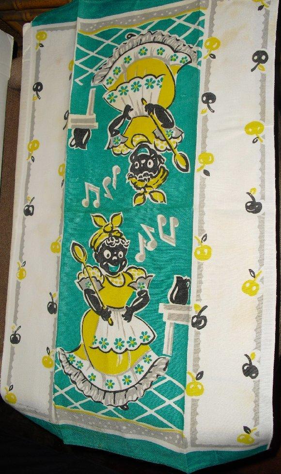 Vintage BLACK AMERICANA Mammy Tea Kitchen Towel