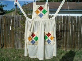 Vintage cathedral windows quilt bib apron4 thumb200