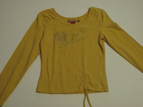 Girls Gold Long Sleeve Shirt, Size L