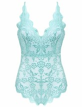 Women's Sexy Teddy Lace Lingerie One Piece Cross Back Bodysuit Outfits B... - $20.12