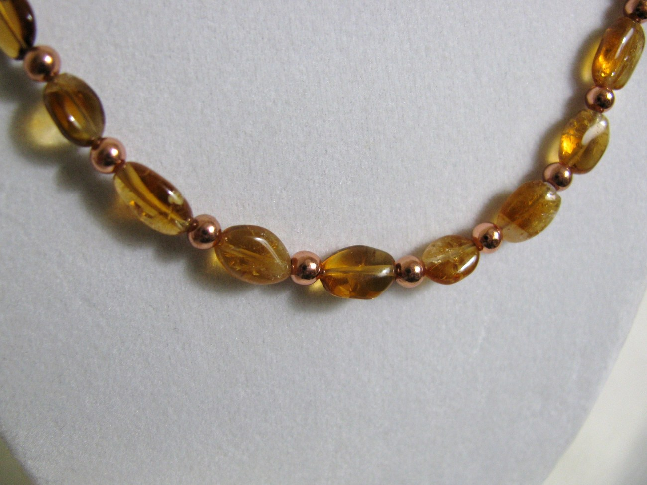 Citrine and Copper Necklace RKM299 RKMixables Copper Collection