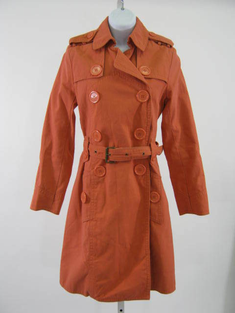 Mj burnt orange trench coat 1