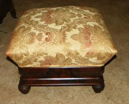 Empire Flame Mahogany Footstool Stool - $434.78