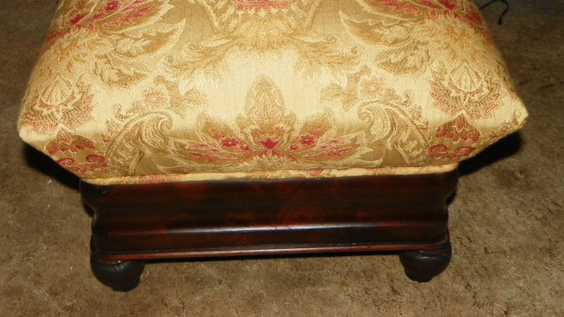 Empire Flame Mahogany Footstool Stool