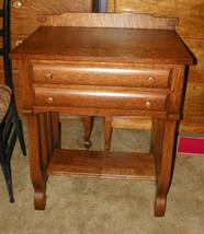 Empire Quartersawn Oak Sewing Stand Cabinet - $532.25