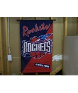 "HOUSTON ROCKETS NBA WALL HANGING BANNER 29"" X 4... - $7.00"