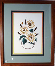 Quilled Sunflowers and Cattails Handcrafted wal... - $175.00