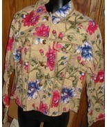 NWT FLASHBACK COUTURE floral beads Jacket fancy buttons - $39.99