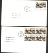 C. M. Russell American Artist first day covers single & block of 4 Mar 19, 1964 - $2.99