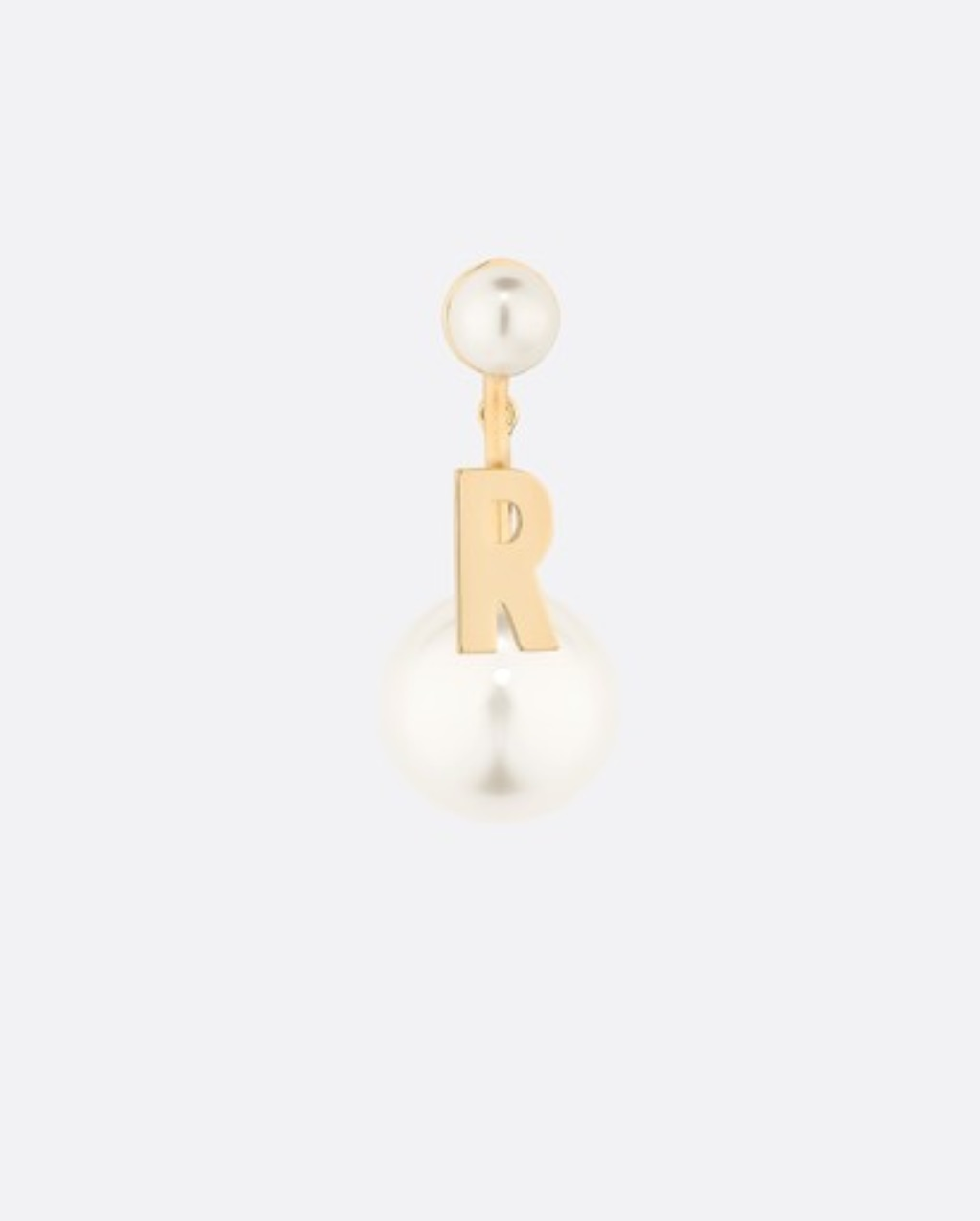 Authentic Christian Dior 2019 MY ABCDIOR TRIBALE EARRING LETTER R