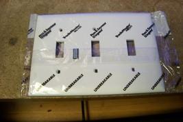 NEW Pass & Seymour Legrand TP3-W 3-Gang White Toggle Wall Plate - $1.73