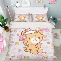 3D Lovely Bear 1 Bed Pillowcases Quilt Duvet Cover Set Single Queen King Size AU - $90.04+