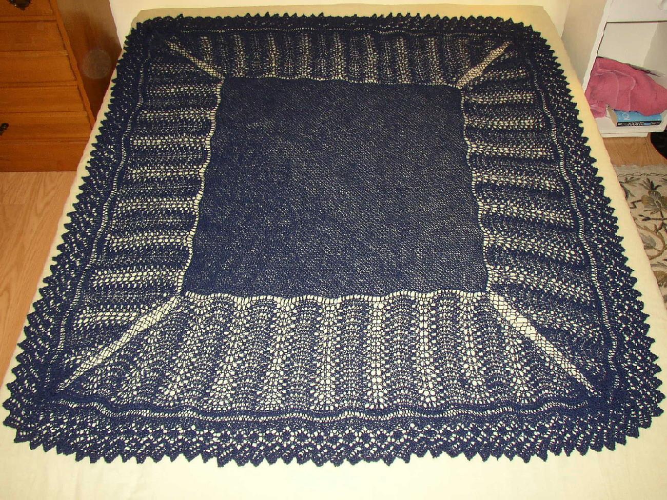 Shetland Lace Shawl PDF Pattern