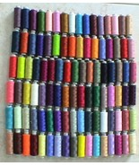 100 SPOOLS NEW POLY SEWING/ QUILTING THREAD FREE SHIP - $39.99