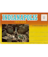 Indianapolis Indiana Vintage Post Card Folio Curt Teich 1971 - $7.00
