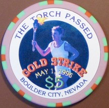 $5 Casino Chip, Gold Strike, Boulder City, NV. The Torch Has Passed, 1996. V15. - $6.50
